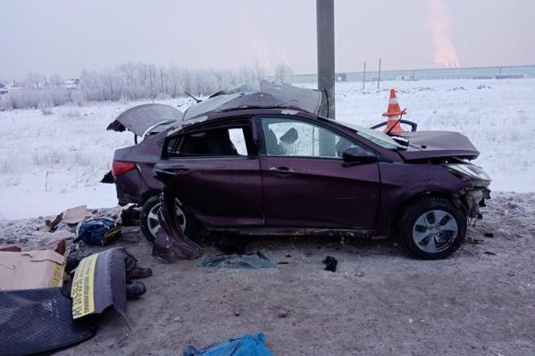 ДТП произошло рано утром на трассе под Новосибирском
