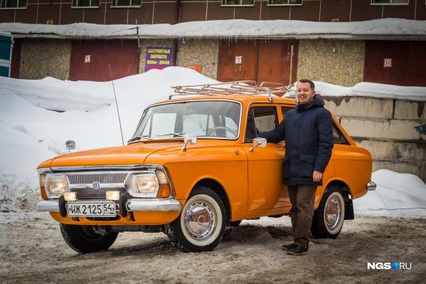 Олег Востриков и егоИж-2125 «Комби»
