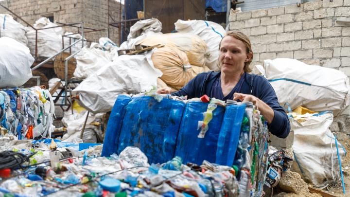 Маленький, но гордый бизнес: как живет волгоградец, делающий деньги из мусора