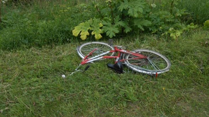 В Каргопольском районе после столкновения с машиной погибла пожилая велосипедистка