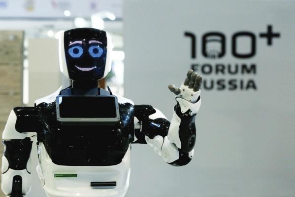 На некоторых стендах участников форума встретят роботы