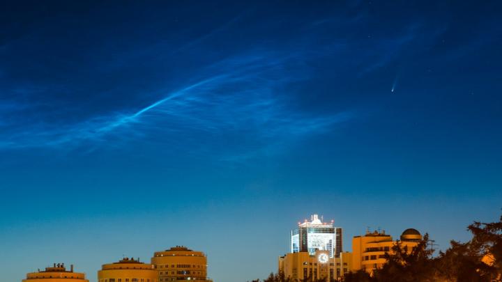 Уральские фотографы сняли над Екатеринбургом полет ярчайшей кометы