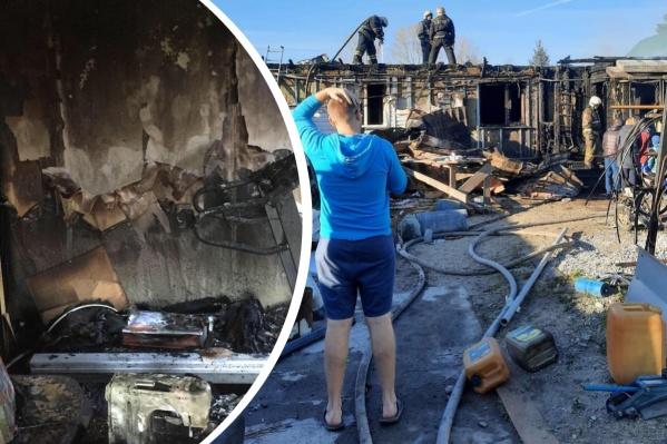 Жильцы успели эвакуироваться из горящего дома