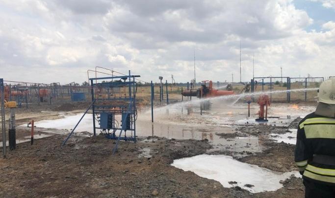 «Утечку перекрыли»: в Волгоградской области затушили пожар на магистральном газопроводе