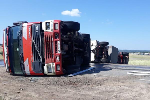 Разлившееся топливо не вспыхнуло, рассказали в МЧС Башкирии