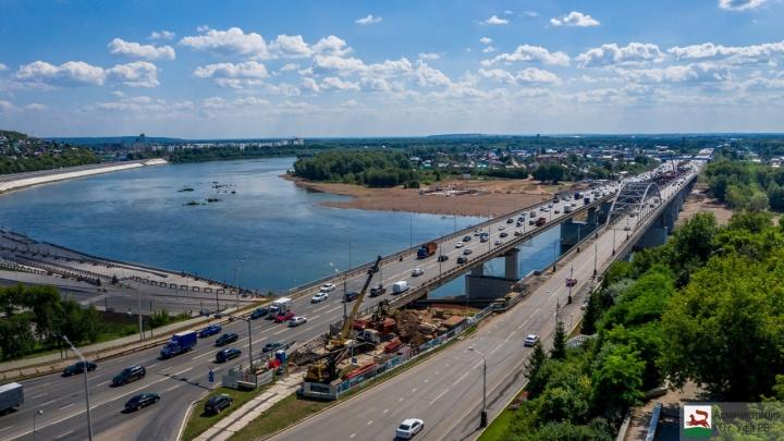 В Уфе движение по старому мосту через реку Белую ограничат до 2021 года