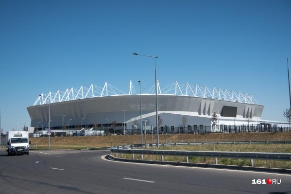Стадион перед игрой разделят на зону футболистов и зону болельщиков