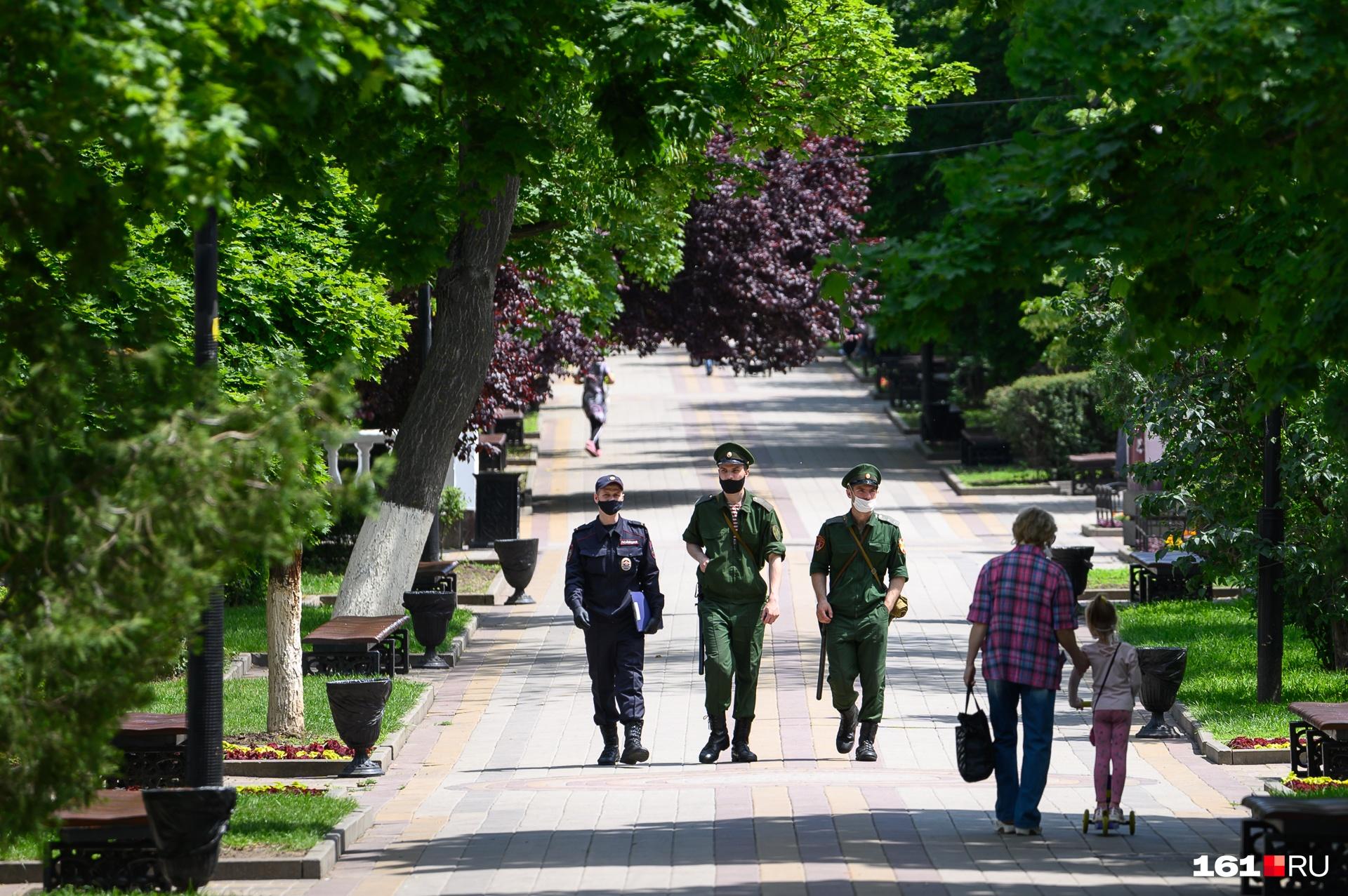 В парке Горького патрули ищут нарушителей
