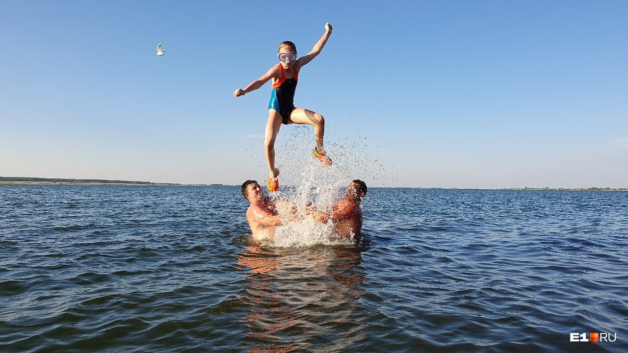Читательница Светлана поехала на озероБольшой Сунгуль