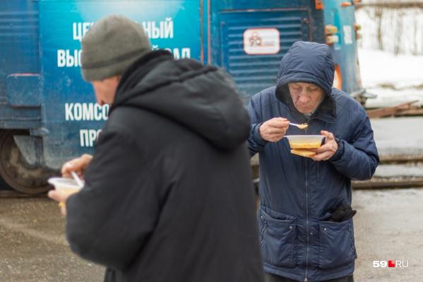 Горячую еду будут развозить для бездомных и тех, кто временно оказался в сложной ситуации