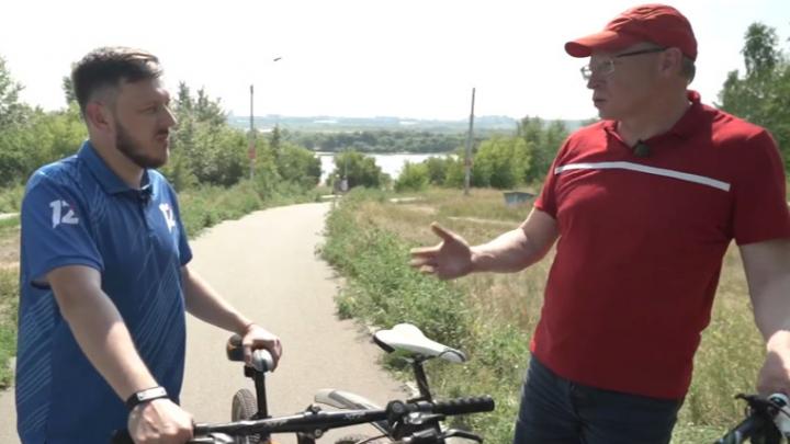 Сцена на воде и парящий мост: Бурков раскрыл подробности проекта новой набережной Иртыша