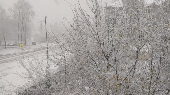 Готовьте зимнюю резину: на Урале выпал снег