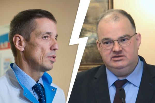 Предполагалось, что должность Олега Аверьянова (слева) с большой долей вероятности мог занять экс-министр Андрей Цветков (справа)