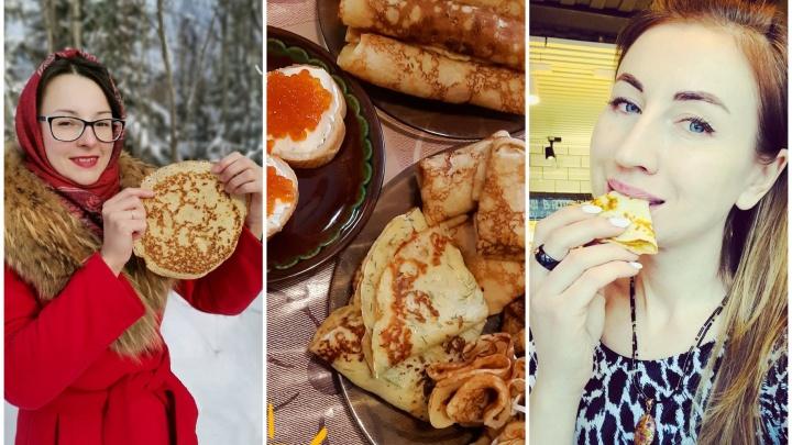 Блины в горошек и со свежей клубникой: фотографии от северян, которые провожали зиму