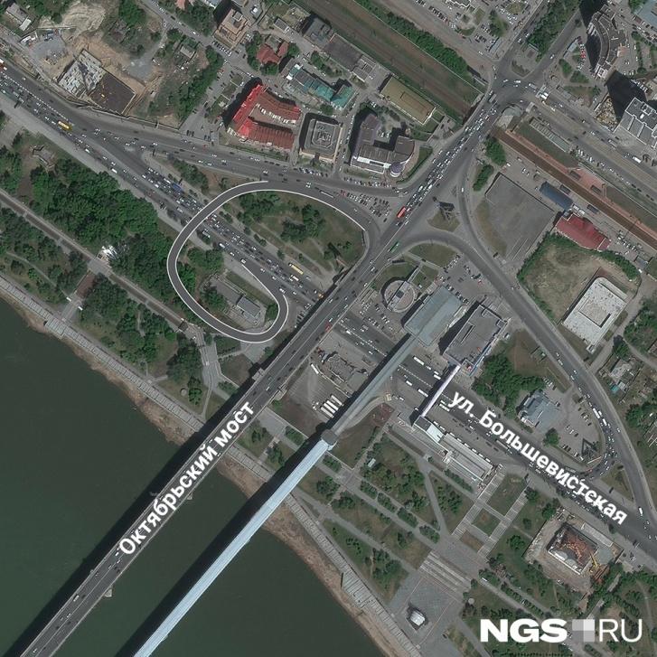 Развязка возле Коммунального моста