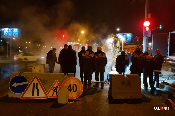 Работы на улице Землячки затянутся на ночь и на утро 1 ноября