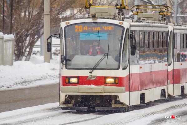 На день изменят три трамвайных маршрута