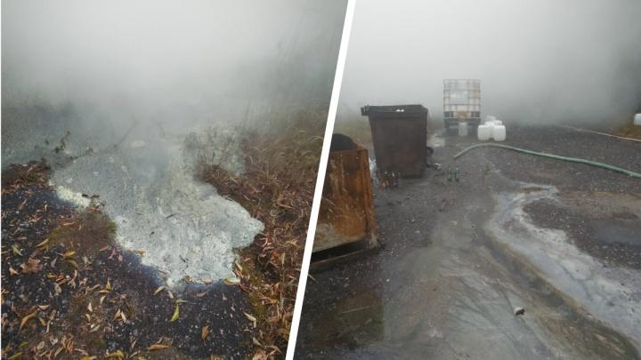 В Дзержинске разлилась цистерна с неизвестным веществом