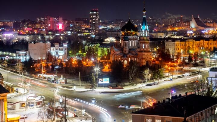 Огни вечернего Омска: фотографии города с крыши библиотеки имени Пушкина