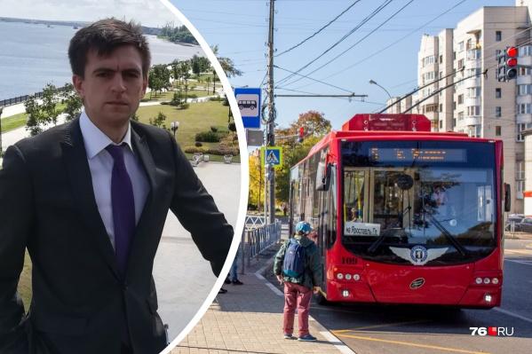 Заниматься вопросами развития общественного транспорта Ярославля доверили приезжему специалисту Виктору Толстикову