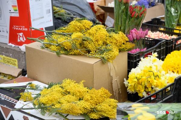 На 8 Марта ростовчане предпочитают традиционно дарить тюльпаны и нарциссы