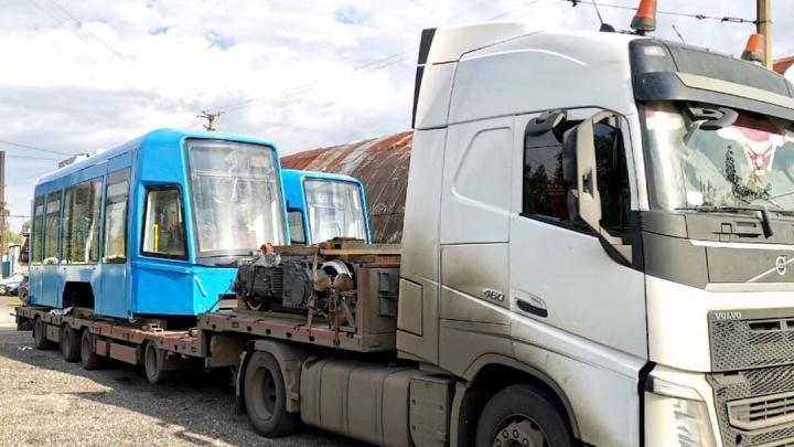 В Новокузнецк поступил новый современный трамвай. Мэр показал, как он выглядит