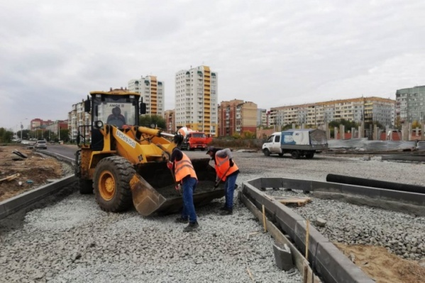 Строительство дороги закончено, идет приемка объекта