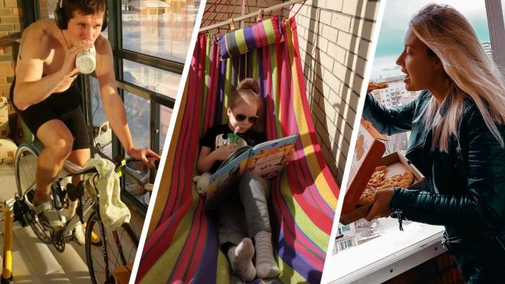 10 стильных балконов, на которых новосибирцы жарят шашлыки, крутят педали и занимаются йогой