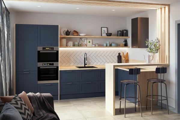 Эта кухня впишется в любой интерьер. Главное — определиться с цветом