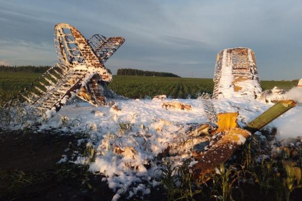 Спасатели потушили самолет