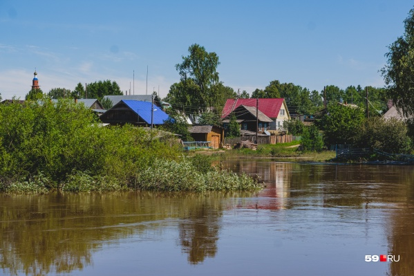 В Прикамье топит дома и придомовые территории