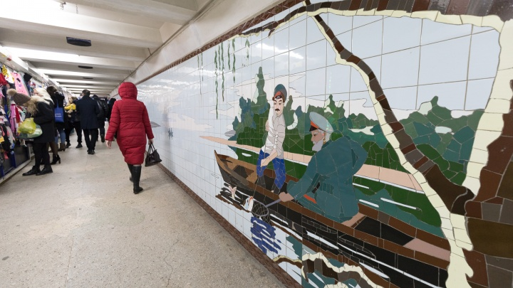 Переходы дали трещину: почему посыпались ростовские полувековые мозаики, и с этим ничего не поделать