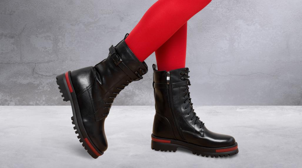 Массивные подошвы и высокие ботинки снова вернули свои модные позиции