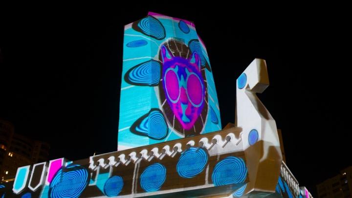 В Самаре раскрасили монумент Ладья