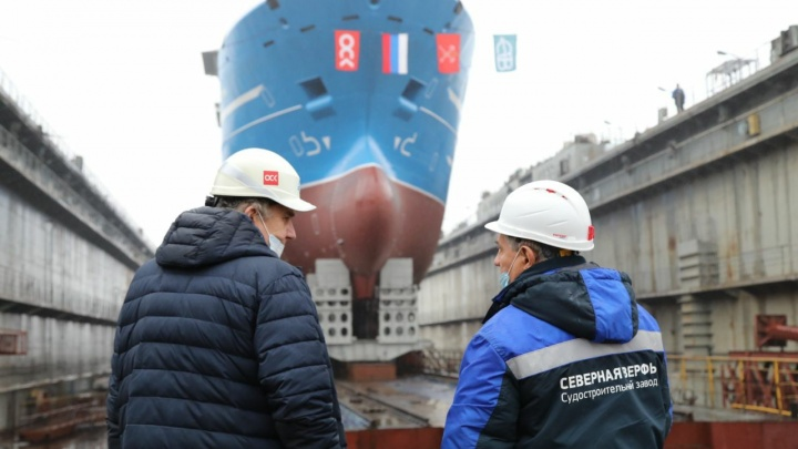 На заводе в Санкт-Петербурге, которым руководит Игорь Орлов, спустили на воду судно «Марлин»