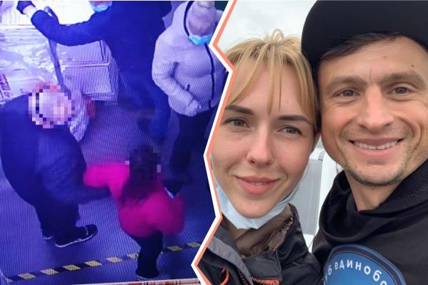На жену Михаила Чернова в магазине из-за сдвинутой на подбородок маски накинулся покупатель