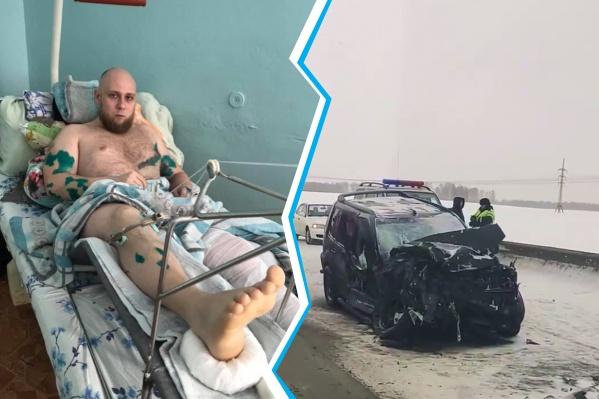 Известный блогер Денис Новичков оказался в больнице после серьёзного ДТП на трассе Р-255