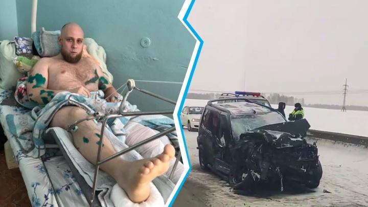«Сломаны обе ноги»: блогер из Новосибирска разбился на трассе — машину выкинуло из колеи на микроавтобус
