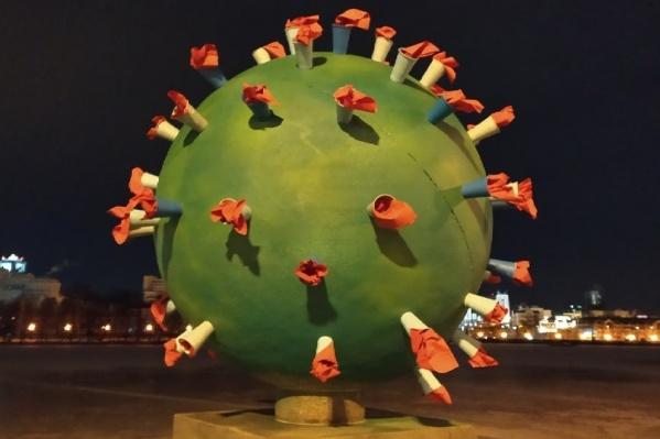 Арт-объект появился на набережной у Театра драмы