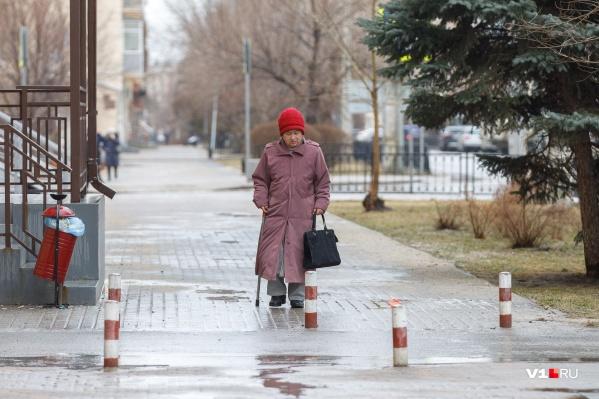 В Волгограде сегодня пасмурно дождливо