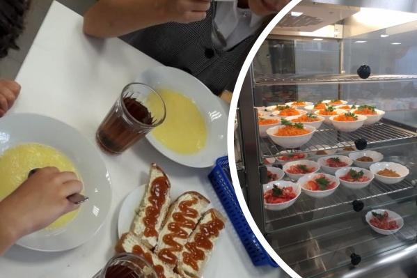 Судя по фотографиям, каши — одно из самых популярных блюд в школьных столовых
