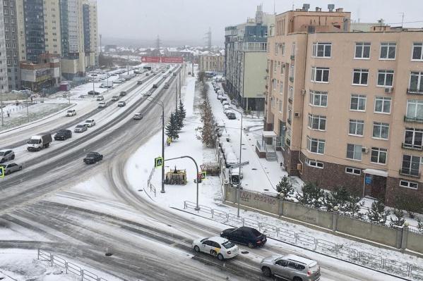 Первая снежная суббота в Челябинске в этом сезоне