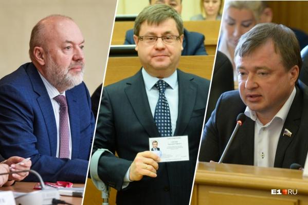 Павел Крашенинников и Максим Иванов (по краям) говорят, что надо смягчать режим, а Дмитрий Сергин убежден, что время еще не настало