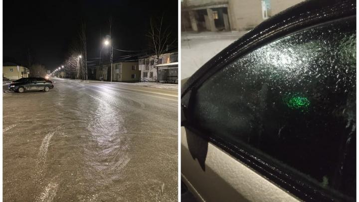 Дороги превратились в каток: в Свердловской области прошел ледяной дождь