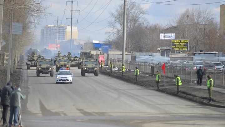 Стали известны дни, когда Екатеринбург будет стоять в глухих пробках из-за репетиций парада