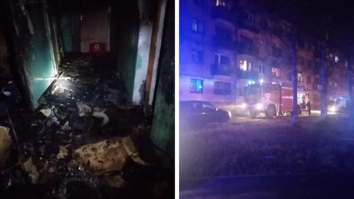 Четырех человек спасли при ночном пожаре в Новодвинске