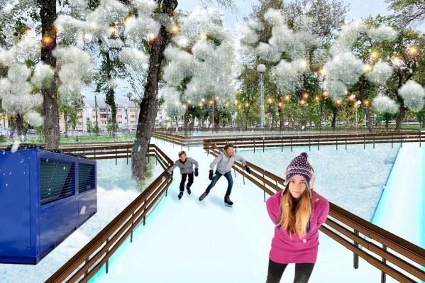 Ледовые дорожки должны появиться в парке Терешковой на ЧТЗ<br>