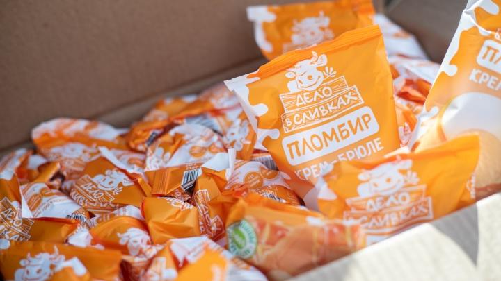 Новосибирская фабрика «Полярис» подарила натуральное мороженое сотрудникам инфекционной больницы