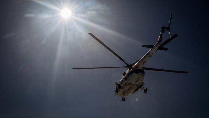 «Шел черный дым»: спасатели выясняют обстоятельства возможного крушения вертолета под Новосибирском