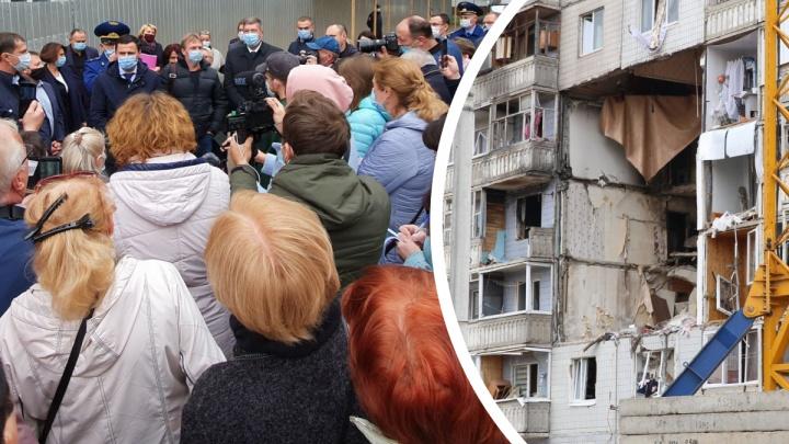 «Что мы купим на эти деньги?» Жильцы взорвавшегося дома накинулись на чиновников из-за выплат за квартиры
